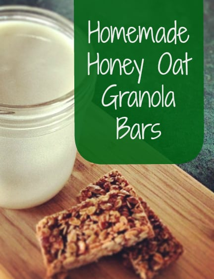 homemade honey oat granola bars