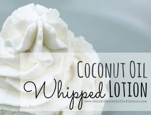 Whipped Coconut oil lotion
