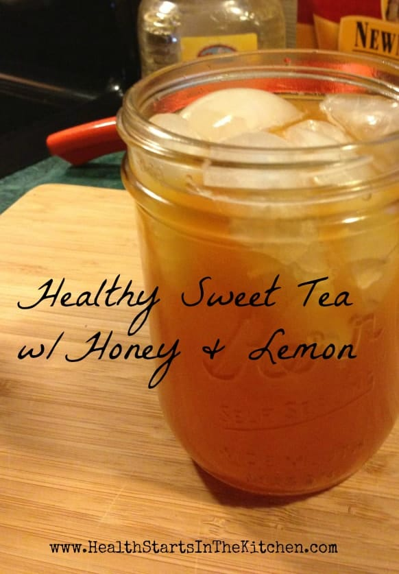 Healthy Sweet Tea w/Honey & Lemon