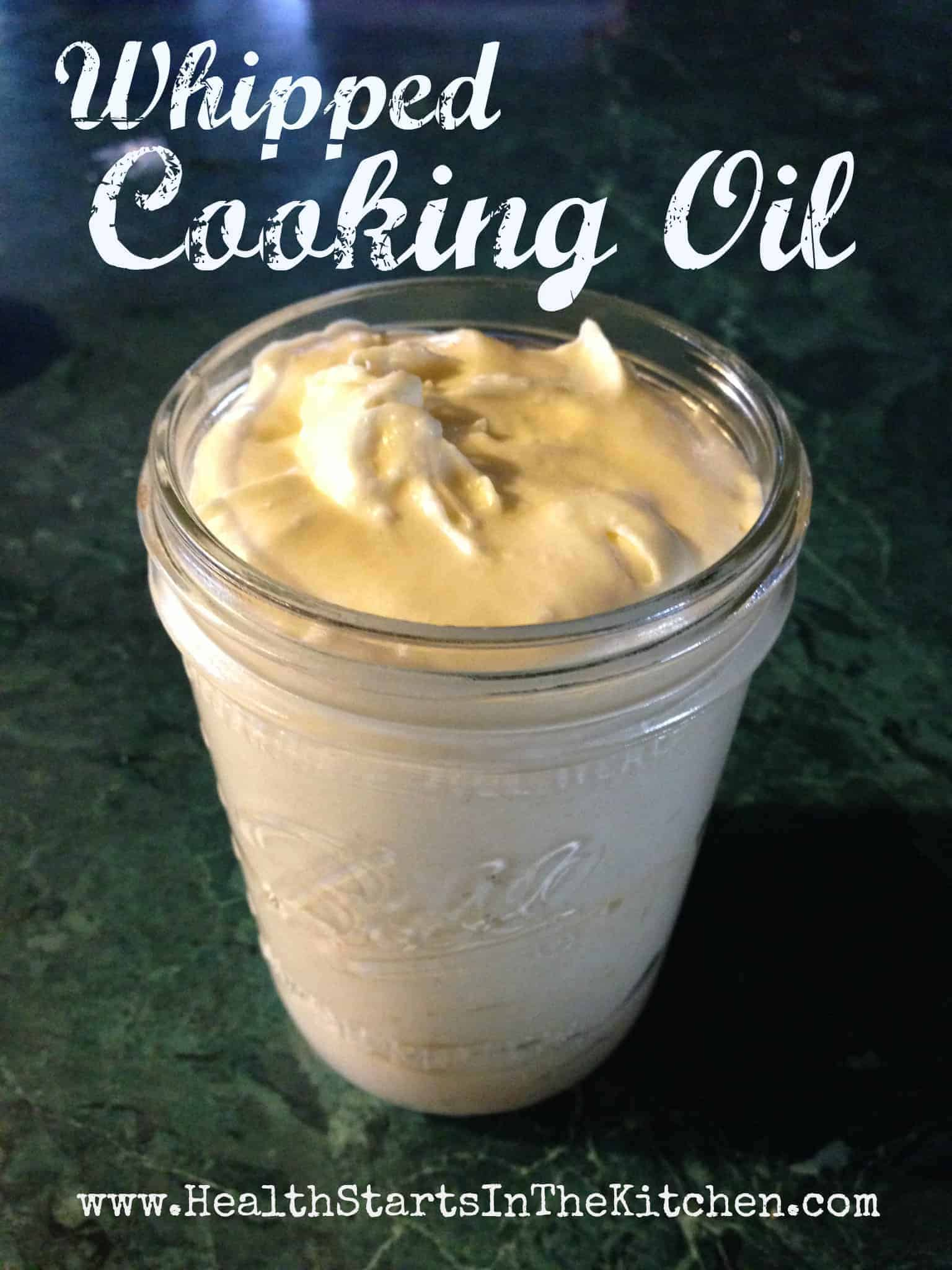My Ultimate Healthy Whipped Cooking Oil Blend