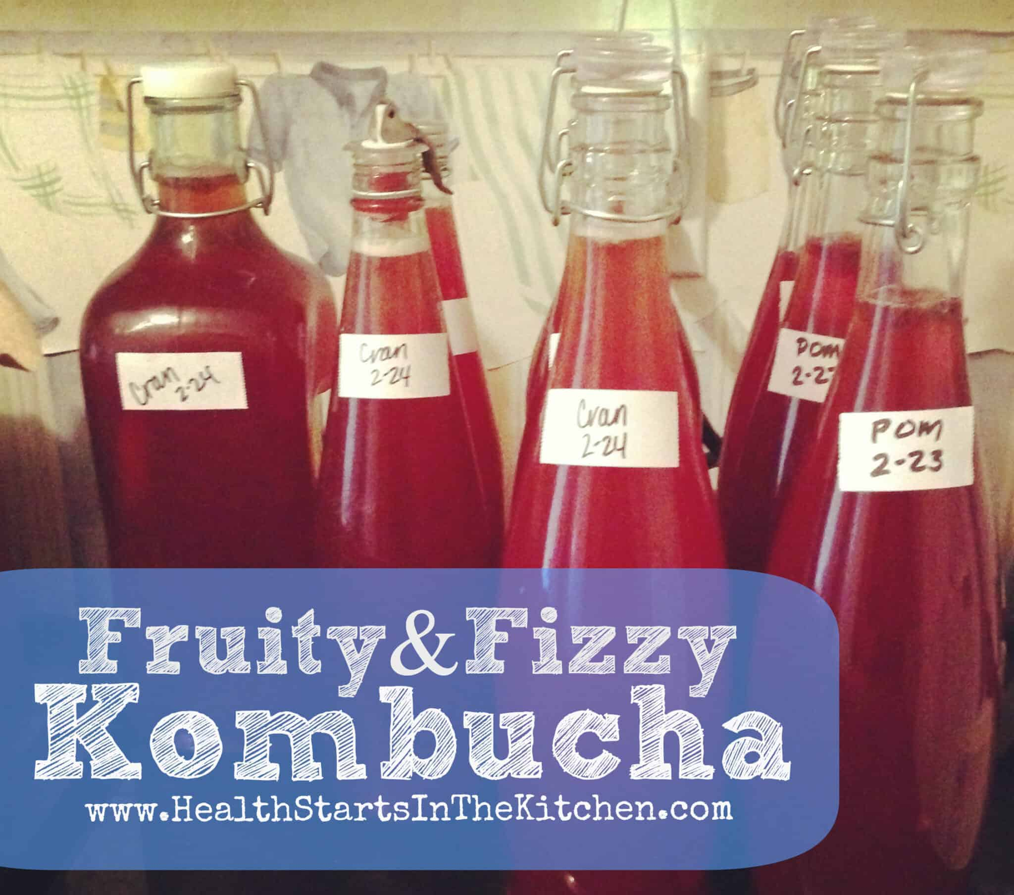 Fruity & Fizzy Kombucha – The 2nd step