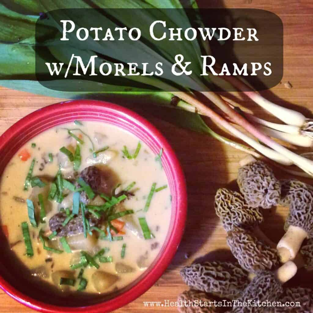 potato morel ramp chowder