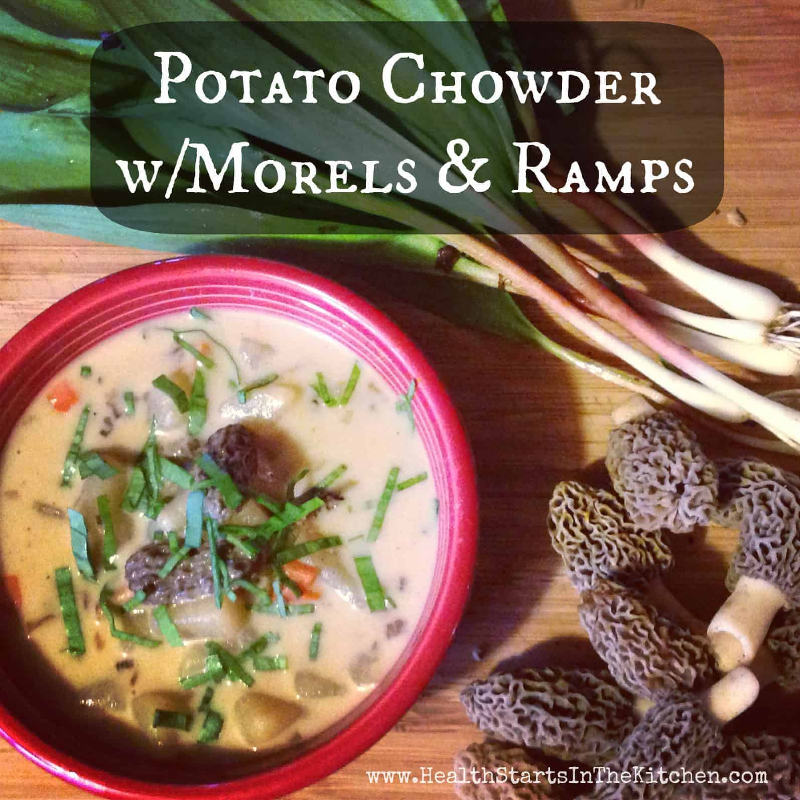 Potato Chowder with Morels and Ramps