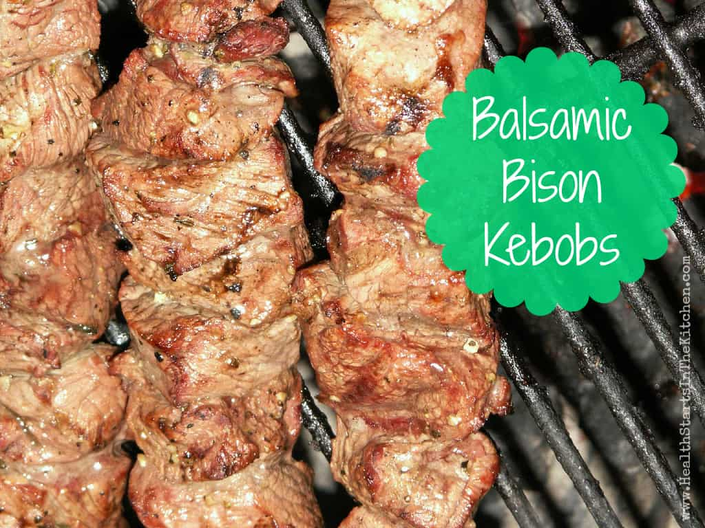 Balsamic Bison Kebobs