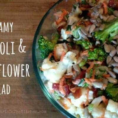 Creamy Broccoli & Cauliflower Salad