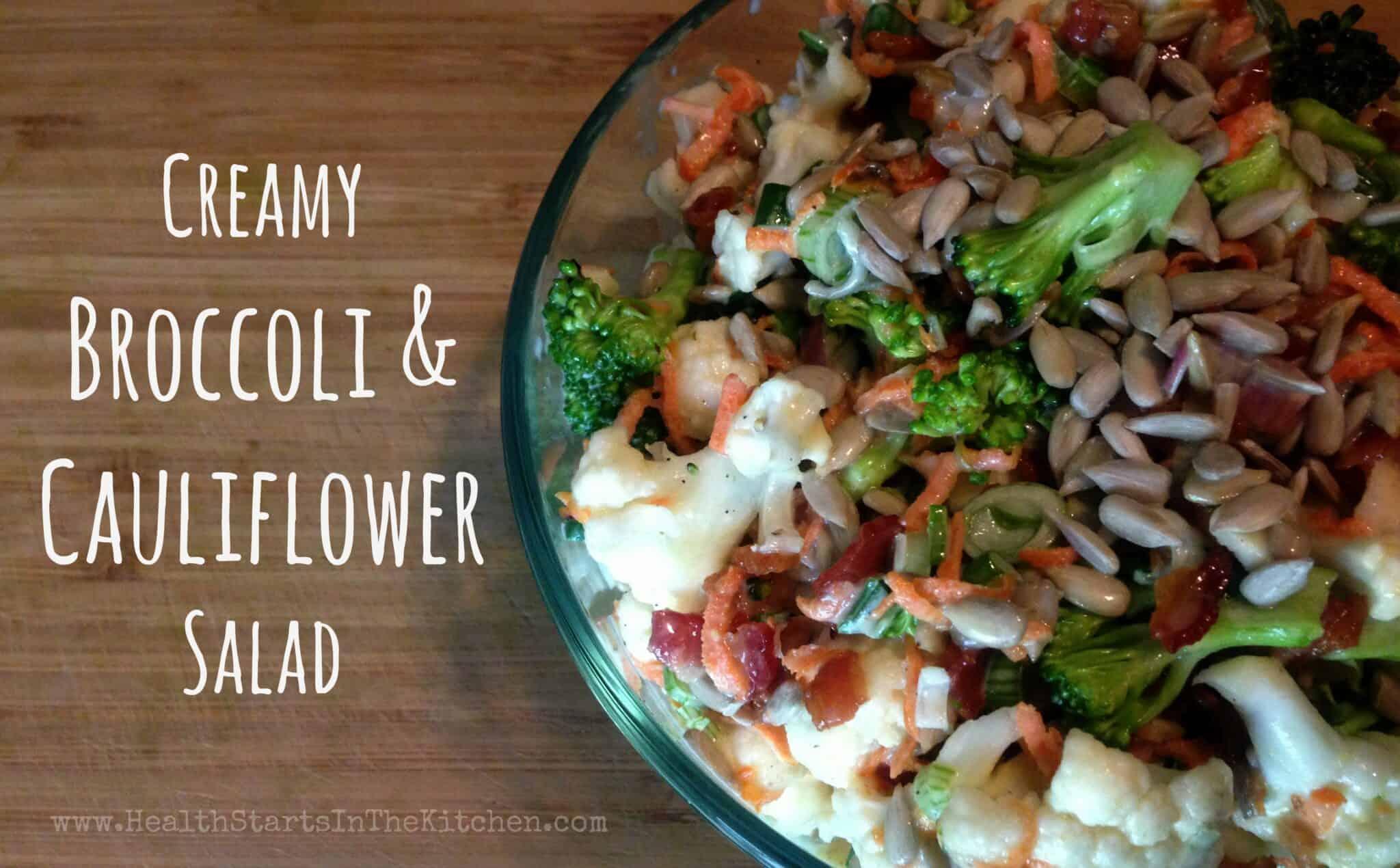 Creamy Broccoli & Cauliflower Salad