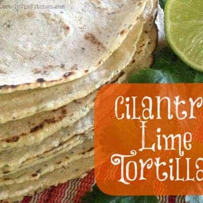 Cilantro Lime Corn Tortillas