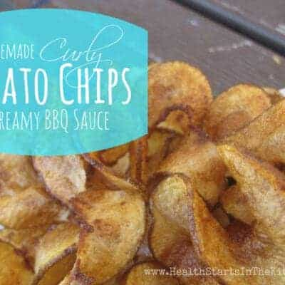 Curly Potato Chips with Creamy BBQ Dip