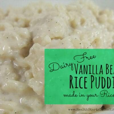 Dairy Free Vanilla Bean Rice Pudding