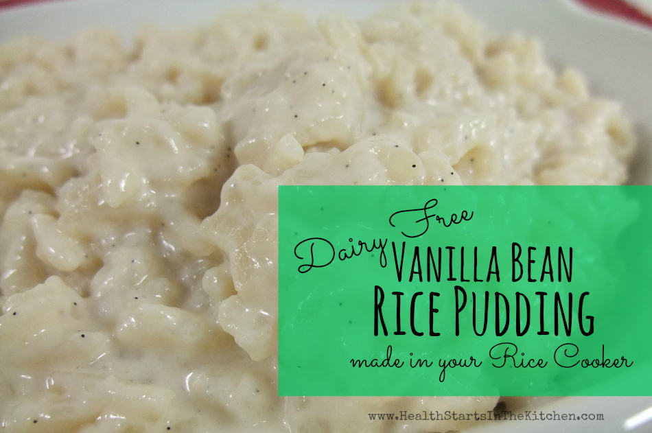 Dairy Free Vanilla Bean Rice Pudding