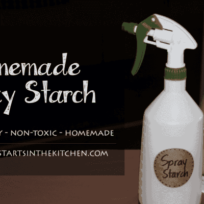 Homemade Spray Starch for Ironing