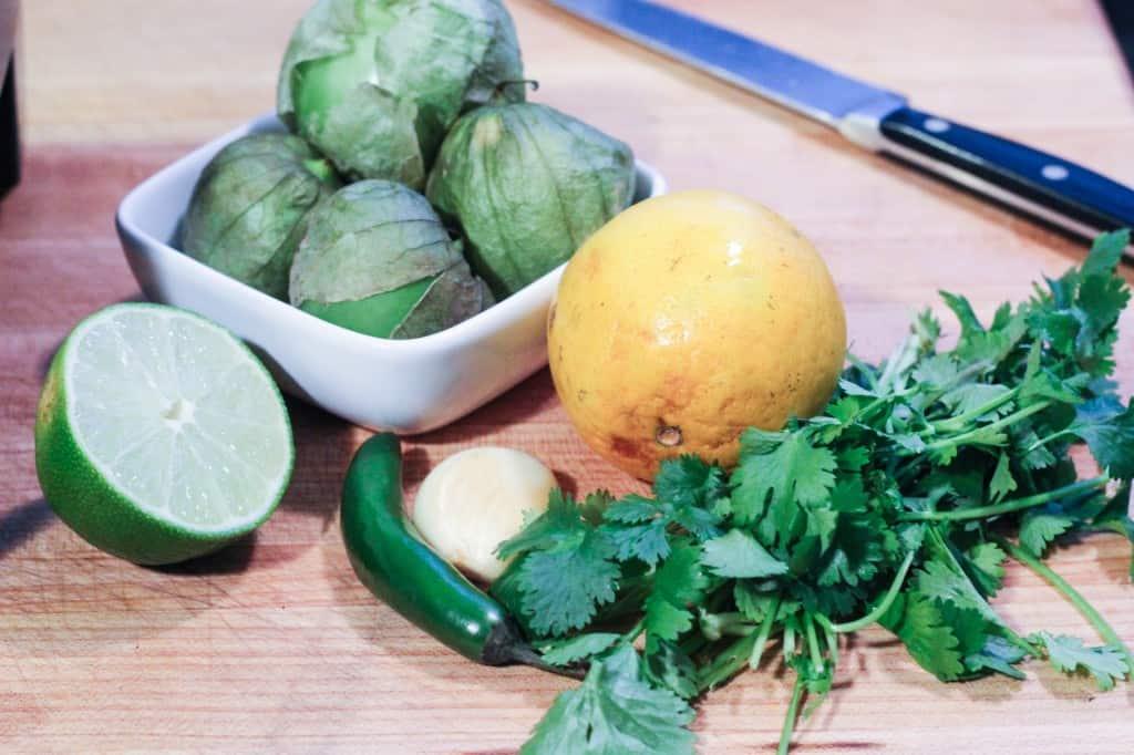 citrus cilantro tomatillo salsa_
