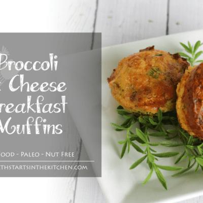 Broccoli & Cheese Breakfast Muffins