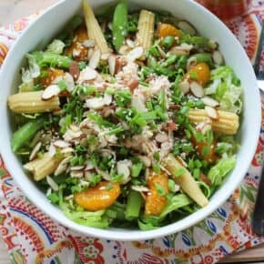 Asian Chicken Salad with Homemade Sesame Ginger Dressing - Paleo - Real Food - Health Starts in the Kitchen