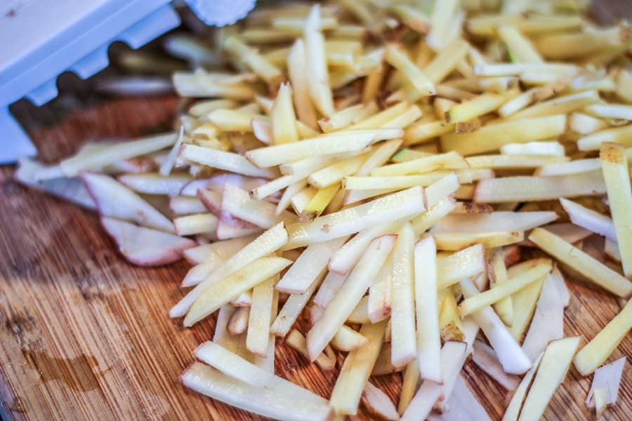 How to make Homemade Shoestring Potato Sticks - Health Starts in the Kitchen