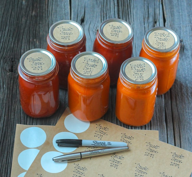 How to keep an Organized Canning Pantry - Use Sharpie Pens to label your jars!