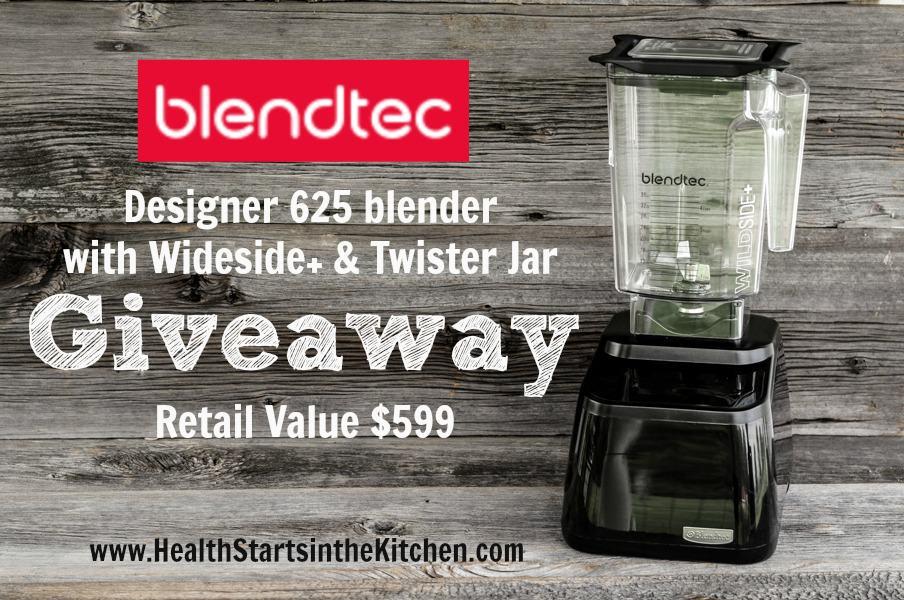 Blendtec Designer 625 Wideside+ and Twister Jar Giveaway