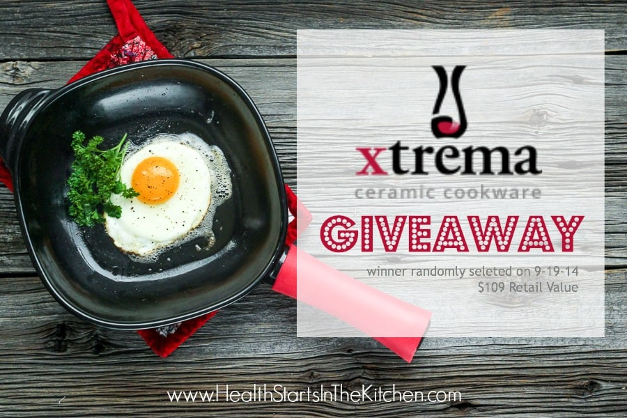 Don't ruin your Healthy foods by cooking it in Toxic Cookware, Enter to win this awesome Xtrema healthy cookware GIVEAWAY