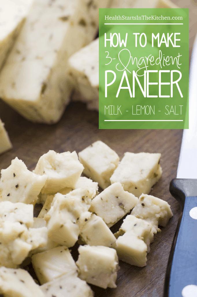 How to make Paneer Cheese with just 3 ingredients: Milk, Lemon, Salt