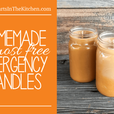 Homemade Emergency Candles made from recycled used fat