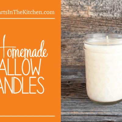 Homemade Tallow Candles