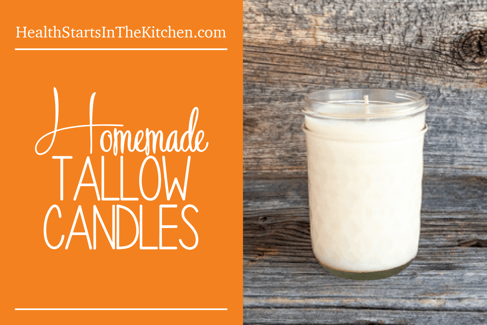 Homemade Tallow Candles - Health Starts in the Kitchen