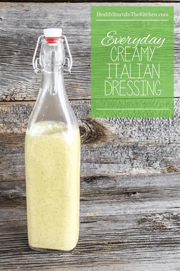 Everyday Cream Italian Dressing; Paleo, Low-Carb, Dairy-Free & Bulletproof Diet Friendly