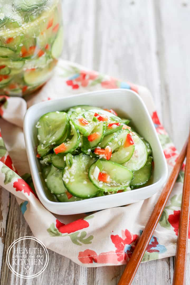 Marinated Asian Sesame Cucumber Salad