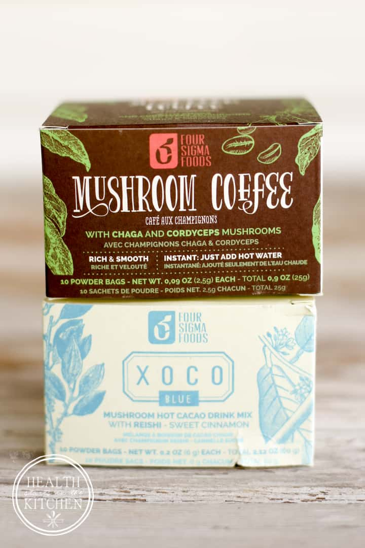 Sneaky Mushroom Cacao Frappuccino - with Chaga, cordyceps and reishi mushooms by Health Starts in the Kitchen - {Paleo, Diary Free, Low-Carb, Primal, Keto, Ketogenic, Vegan, Vegetarian}