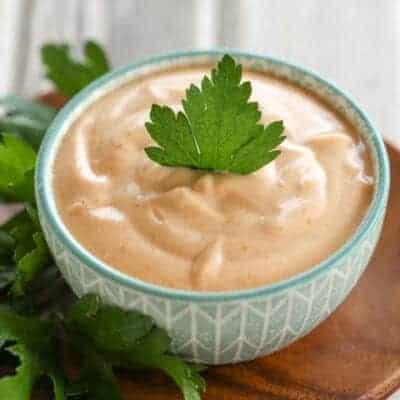 {2 Ingredient} Creamy BBQ Chip & Fry Dip