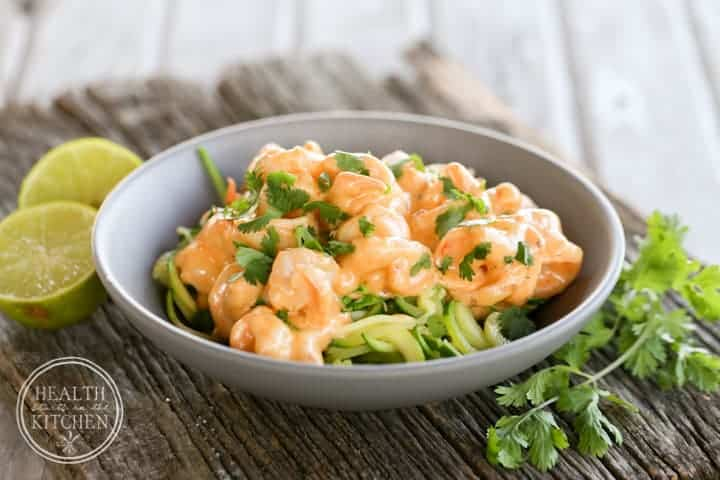 {Low-Carb} Cheesy Chipotle Shrimp