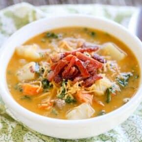 {Pressure Cooker} Sausage Kale Potato Soup