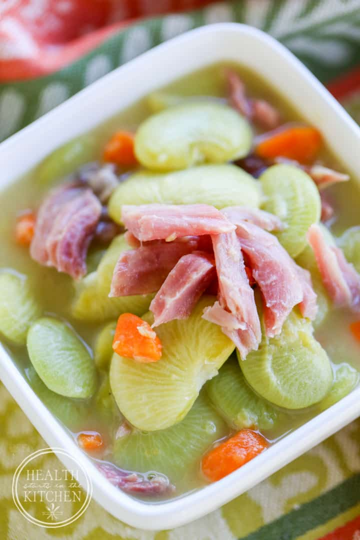 Pressure cooker lima bean ham soup for How to cook fresh lima beans from garden