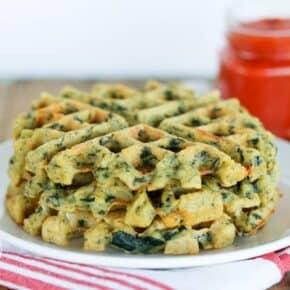 Savory Spinach & Feta Waffles {Grain-Free, Gluten-Free & Primal}