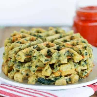 Savory Spinach and Feta Waffles {Grain-Free, Gluten-Free & Primal}