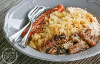Pressure Cooker Pork and Kraut {For New Year's Good Luck!}