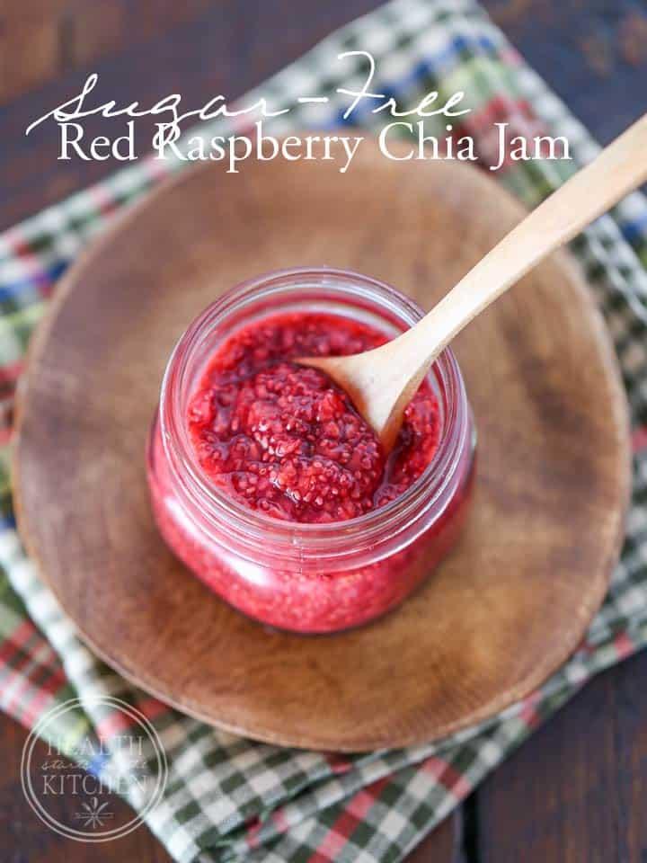 Sugar-Free Red Raspberry Chia Jam {Paleo, Low-Carb & Keto}