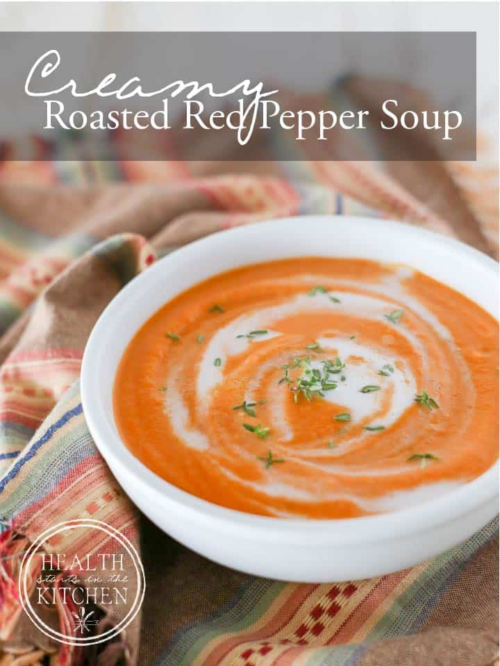 Creamy Roasted Red Pepper Soup {Paleo, Low-Carb & Vegan}