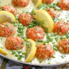 Salmon Meatballs with Dijon Lemon Sauce {Low-Carb, Keto & Grain-Free}