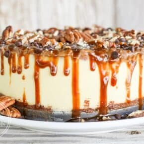 Pressure Cooker Turtle Cheesecake {Low-Carb}