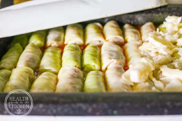 Paleo Grain-Free Stuffed Cabbage Rolls with Tomato Sauce {Oven, Slow Coker & Pressure Cooker}