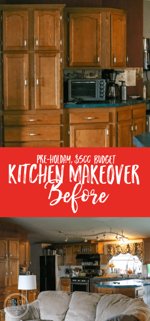 Holiday Kitchen Makeover ($500 Budget) BEFORE