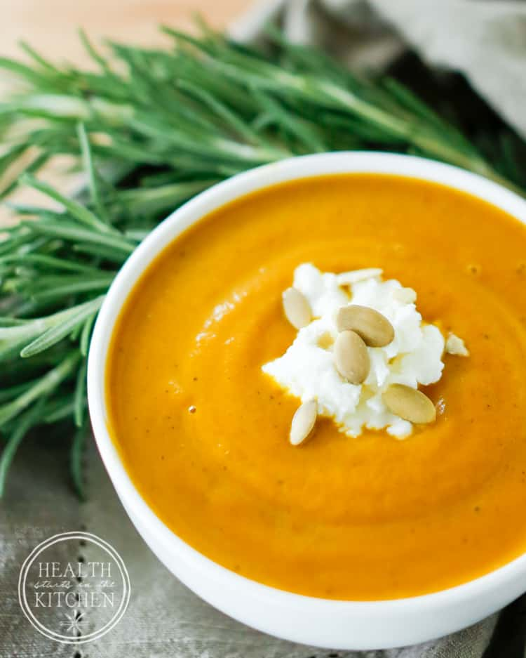Savory Roasted Garlic Pumpkin Soup