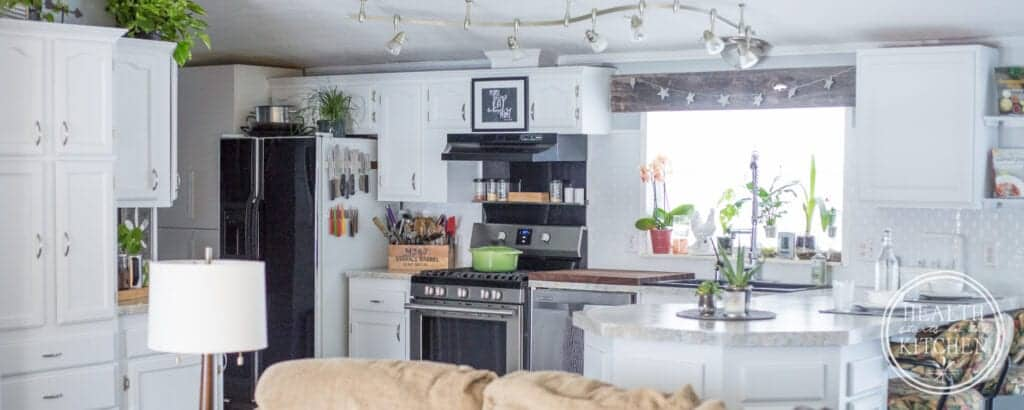 Holiday Kitchen Makeover ($500 Budget) AFTER - Nuvo Titanium Paint