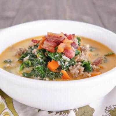 15 Minute Sausage Kale Soup {Low-Carb & Primal}