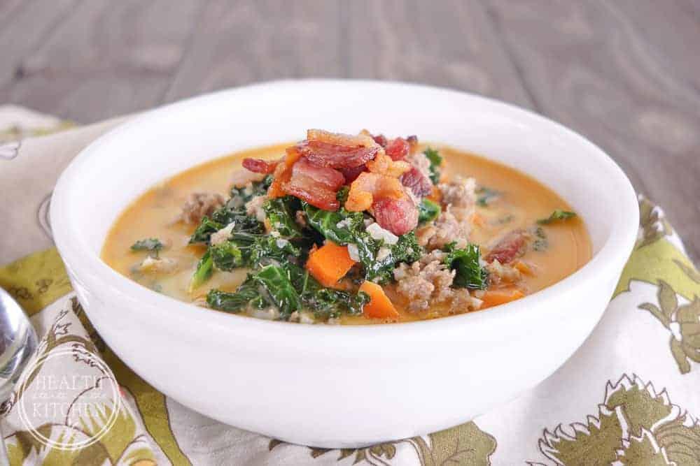 15 Minute Sausage Kale Soup
