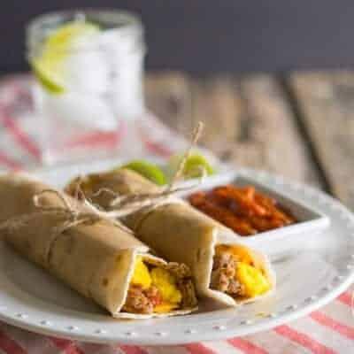 Paleo Freezer Breakfast Burritos {Grain-Free, Gluten-Free & Primal}