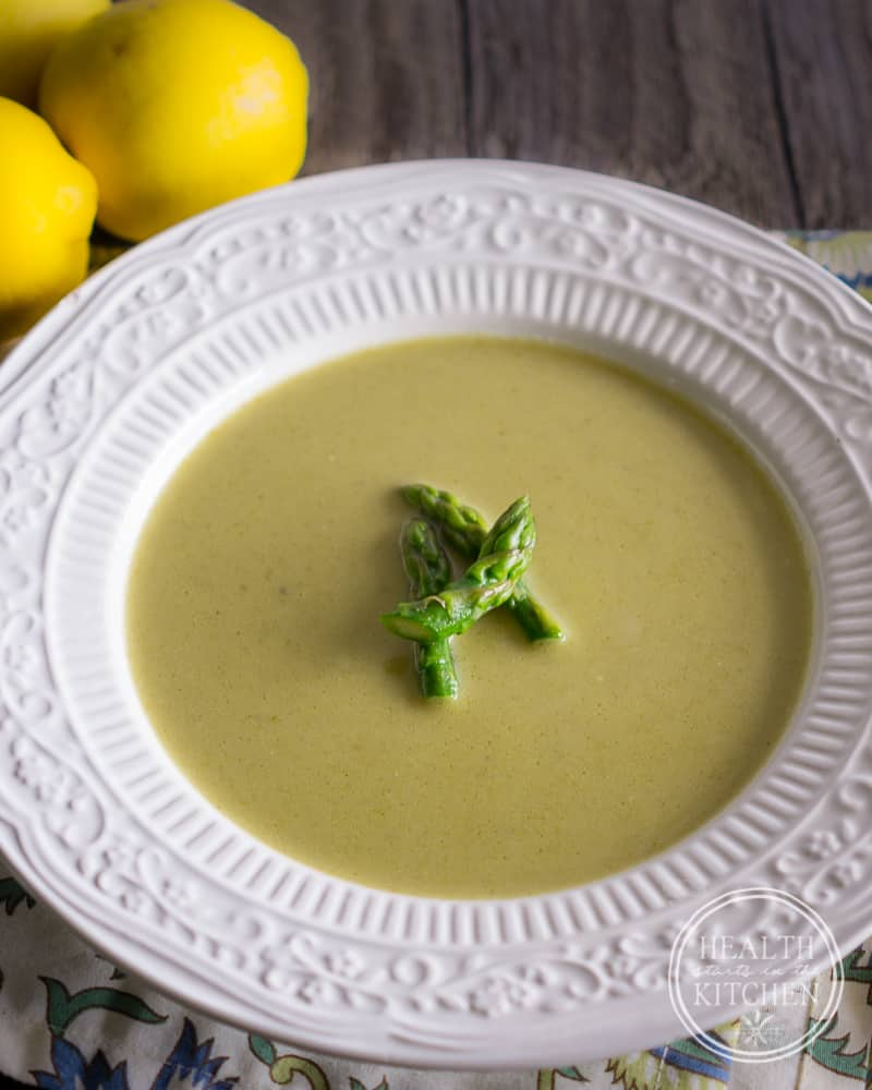 Creamy Asparagus Soup {Whole 30 & Paleo}