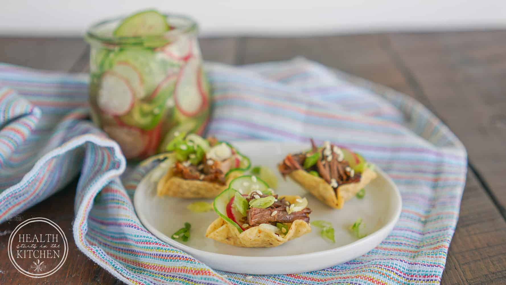 Korean BBQ Short Rib Tacos {Pressure Cooker & Slow Cooker}
