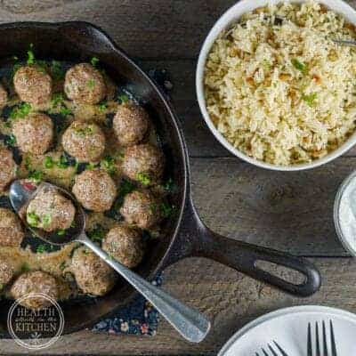 Super Gyro Lamb Meatballs {Paleo, Low-Carb & Whole 30}